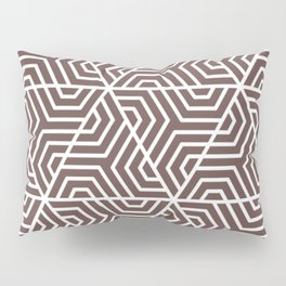 Liver - violet - Geometric Seamless Triangles Pattern Pillow Sham