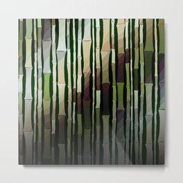 Modern Rustic Bamboo Garden  Metal Print