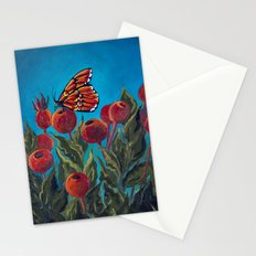 Butterfly in Rose Hips Stationery Cards