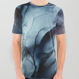 Blush and Darkness Abstract Paintings All Over Graphic Tee