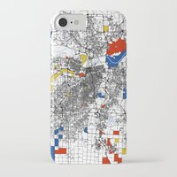 kansas city iPhone & iPod Cases featuring Kansas City  by Mondrian Maps