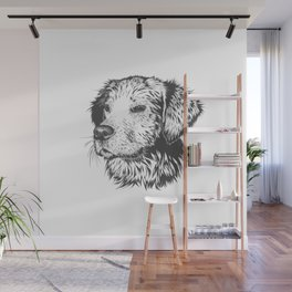 Sketch of Dog also known as mans best friend Doggo Wall Mural