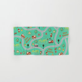 Fireman cute seamless kids pattern mint Hand & Bath Towel