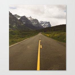 Glacier Roads Canvas Print