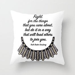 Ruth Bader Ginsburg Throw Pillow