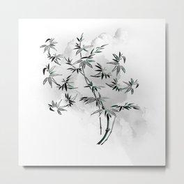 Bambuszweig - bamboo branch Metal Print
