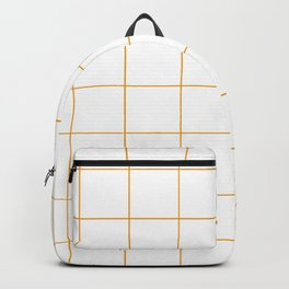 Graph Paper (Orange & White Pattern) Backpack