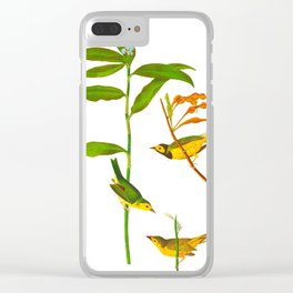 Hooded Warbler Bird Clear iPhone Case