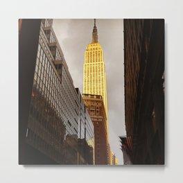 Empire State Building Facing Sun Metal Print