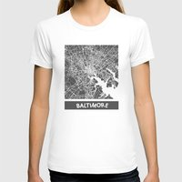 baltimore T-shirts featuring Baltimore map by Map Map Maps