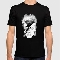 M. BOWIE Mens Fitted Tee Black 2X-LARGE
