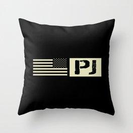 Pararescue (PJ) Black Flag Throw Pillow