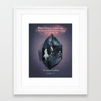bible verse Framed Art Prints featuring Bible Verse, Calming Quote  by Mittenbunny