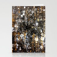 black and gold Stationery Cards featuring Black Gold by Tyler Resty