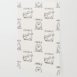 Inhale Exhale Pomeranian Wallpaper