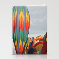 tote bag Stationery Cards featuring Hot Air Balloon New Mexico Tote Bag by CJ Pletting