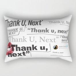 Thank you next - galaxy lips pink Rectangular Pillow