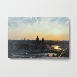 Amsterdam at Sunset Metal Print