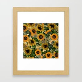 Vintage & Shabby Chic - Sunflowers Flower Garden Framed Art Print