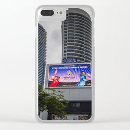 Giant Screen Surfers Paradise Clear iPhone Case