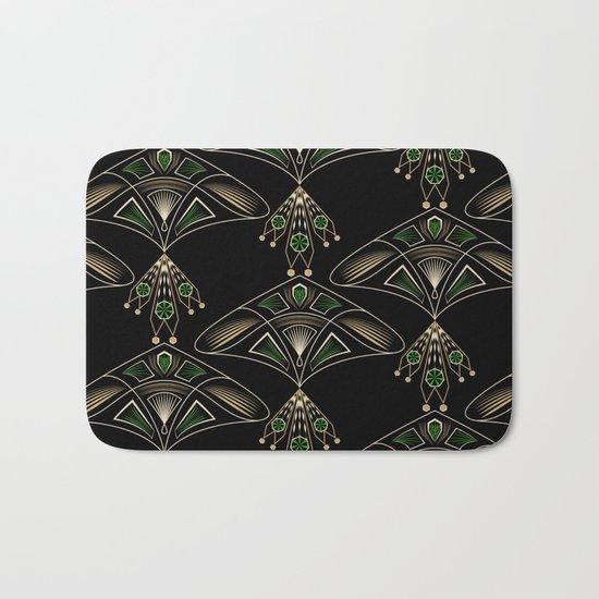 "Art Deco . ""Emeralds "". Bath Mat"