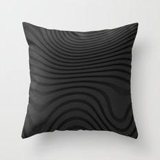 Organic Abstract 02 BLACK Throw Pillow