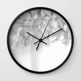 Hydrangea Still Life in Black and White #decor #society6 #buyart Wall Clock