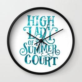 High Lady Summer Court ACOTAR Wall Clock