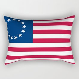 Betsy Ross Old Glory American USA Flag Rectangular Pillow