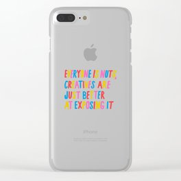 Everyone is Nuts Clear iPhone Case