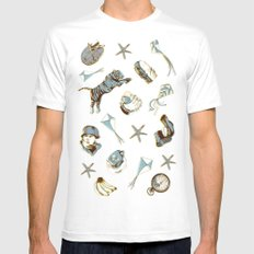 pattern MEDIUM Mens Fitted Tee White