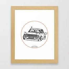 Crazy Car Art 0224 Framed Art Print