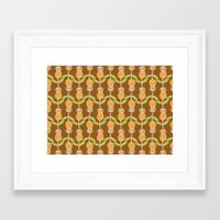 70s Framed Art Prints featuring 70s Flowers by Apple Kaur