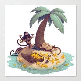 Monkey Desert Island Canvas Print