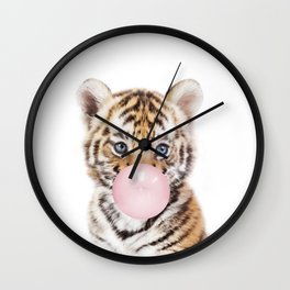 Bubble Gum Tiger Cub Wall Clock