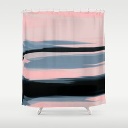 Soft Determination Peach Shower Curtain
