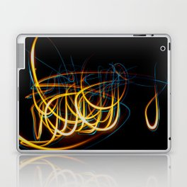 Abstract Orange and Blue Light Effect Laptop & iPad Skin