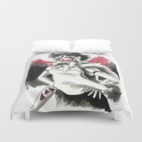 princess mononoke Duvet Covers featuring San, The Mononoke Princess.  by Juan Pablo Cortes