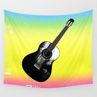 woodstock Wall Tapestries featuring Woodstock by Nicko-Suave Art