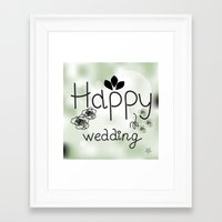 wedding Framed Art Prints featuring wedding by luiza13