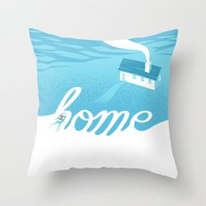 Home is everywhere Throw Pillow