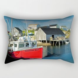 The Boat Harbour Mist in Peggy's Cove Rectangular Pillow