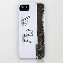 Snowy Meeting iPhone Case