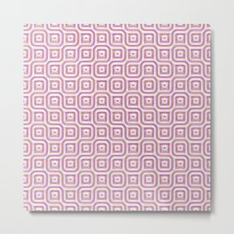 Rose Truchet Tilling Pattern Metal Print
