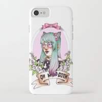 pastel goth iPhone & iPod Cases featuring Oh my GOTH! by Raquel Amo Art