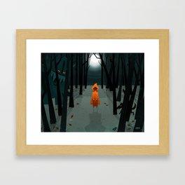 Woods Girl Framed Art Print
