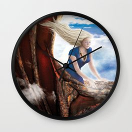 Flying with Drogon Wall Clock