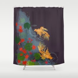 Momiji Pond Shower Curtain