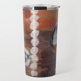 "Thumbnail of the painting ""White beads"" #1 Travel Mug"