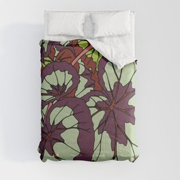 Rex Begonia Illustrated Print Comforters